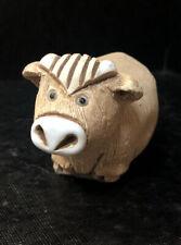 New Listingvintage ceramic cow figurine Art Deco Signed