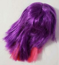 MONSTER HIGH DOLL INNER DELUXE SHIVERING SAD EEK EXCITED HAPPY PINK PURPLE WIG