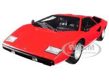 LAMBORGHINI COUNTACH LP400 RED 1/18 DIECAST MODEL CAR BY KYOSHO C 09531 R