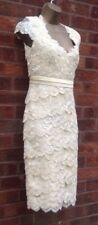 Jacques Vert yellow corded lace Tiered dress size 18
