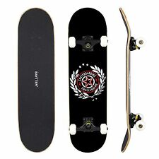 Professional  Complete 31'' Skateboard  7ply Maple Wood Street Trucks Deck Black