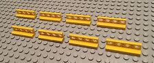 Lego Lot Of 8 Yellow Fence Parts / Walls / Bars / Stand / Pirate Ship / Lattice