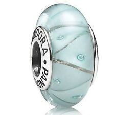 PANDORA Murano Glass Charm Blue Looking Bead S925 ALE 790923 New,