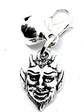Metal Devil Charm para Perros y Gatos Collar Mascota Bolso Pulsera Clip Plateado