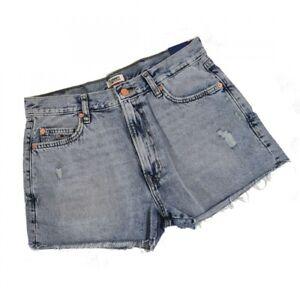 Tommy Jeans Damen Denim Jeans Hot Pants Pant Shorts Blue Jeans
