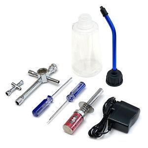 Redcat Racing Nitro R/C Starter Kit Tools Fuel Bottle Glow Plug Igniter 80142A