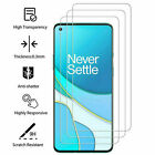 3 Pack HD-Clear Tempered Glass Screen Protector For OnePlus 9 Pro 8 7 6 Nord 10