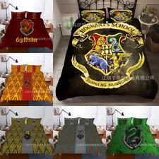 Harry Potter Quilt Cover Bedding Set 3PC Duvet Cover Pillowcase Fans Gifts