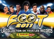 Lot de stickers images panini foot 2011 championnat de France L1 et L2 au choix