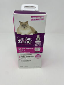 NEW Comfort Zone Spray & Scratch Control Calming Spray for Cats & Kittens 4fl oz