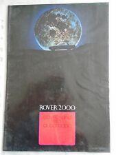 Rover 2000 SC TC & SC Automatic range brochure c1972 ref 794