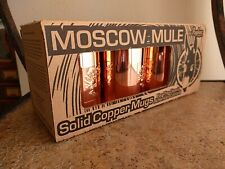 Moscow Mule Copper Mugs Cups Set of 3 Paykoc Made in Turkey