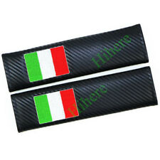 2X Carbon Fiber Car Seat Belt Cover Pads ​Shoulder Cushion For FIAT Abarth Parts