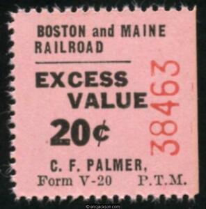 Boston & Maine Railroad RRBM11.1 mint, VF