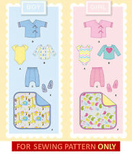 SEWING PATTERN! MAKE BABY BOY~GIRL LAYETTE! 6 PIECES! SIZE PREEMIE-18 MONTHS