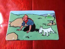 TRES RARE TELECARTE NEUVE - 10 Livres - Tintin au far west 7  - 500 exemplaires