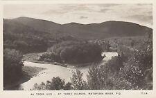 Au Trois Iles RIVIÈRE MATAPÉDIA Quebec Canada 1940-50s Real Photo Postcard T I 4