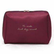 Women Makeup Bag Solid Color Cosmetic Bag Professional Case Travel Organizer