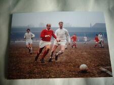 "LEEDS v MANCHESTER UNITED Bobby + Jack Charlton   Photo  6""x4"" REPRINT POST FREE"