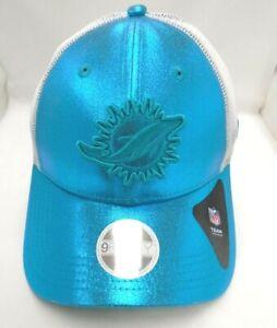 Miami Dolphins Women's New Era Adjustable Shimmer Cap Hat