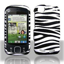Zebra Hard Case Snap on Cover for Motorola Cliq 2 MB611