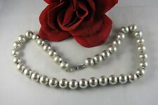 """Sterling Silver Chunky 19""""  Beaded  59g Necklace FERAL  CAT RESCUE"""