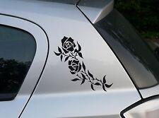 Rose1 Auto Aufkleber Rose Blume Wandtattoo 20 cm