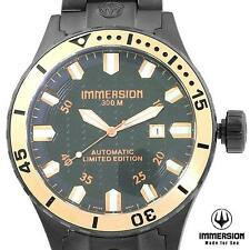 IMMERSION MENS LIMITED EDITION WHALE SWISS AUTOMATIC 300M DIVERS WATCH NEW BLACK