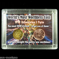 WORLD'S MOST WORTHLESS COIN & Canada 2012 Last Cent US Lincoln Penny UZBEKISTAN