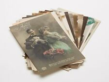 More details for eleven french hand coloured black & white postcards 1910/20
