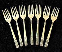 7 Vintage CORTINA Pattern INTERPUR Stainless Steel Forks Mid Century Modern