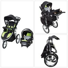 GREEN 3-In-1 Jogger Stroller Buggy All Terrain Travel System Infant Car Seat NEW