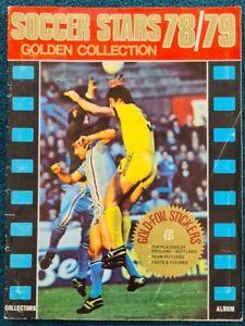 Soccer Stars 78/79 Golden Collection Complete 95% Football Sticker Album Scarce