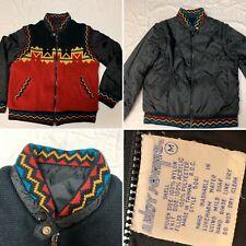 Vtg 90's Andy Johns Size M Southwestern Reversible Convertible Jacket Vest Rare
