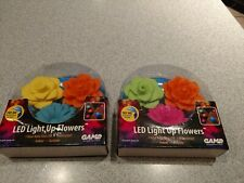 Led Light Up Flowers Swimming Pool Spa Fountain Game New Two Packs
