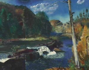 George Wesley Bellows Mill Dam Canvas Print 16 x 20       #4378