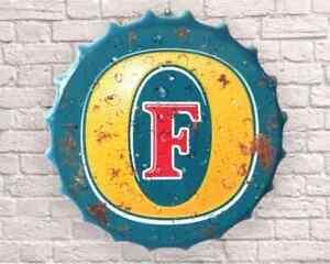 FOSTERS 40cm Diameter Bottle Top Sign New