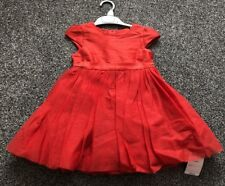 NEW Mothercare Red Puffy Party Dress Baby Girl 2 - 3 Years Wedding Christmas