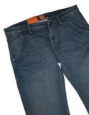 HUGO BOSS 50265916 turquoise aqua denim stretch orange 90 Belfast JEANS W33 L34
