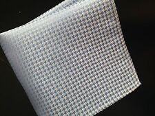 "US Seller New 10"" 100% Silk Pocket Square  Blue Houndstooth"