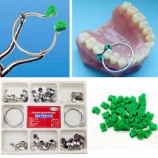 100*Full Kit Dental Matrix Sectional Contoured Metal Matrices No.1.398 + 2 Rings