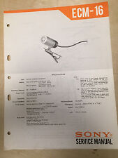 Sony Service Manual for the ECM-16 Microphone ~ Repair