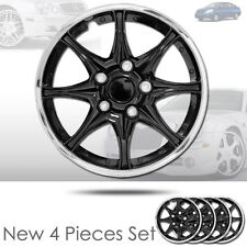 New 16 inch Black Hubcaps Wheel Covers Full Lug Skin Hub Cap Set 522 For Nissan