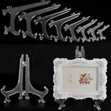 10x Display Easel Stand Plate Bowl Picture Frame Photo Pedestal Holder Clear