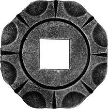 Wandrosette Rund 26x26 Ø90mm Gitterzaun Abschluss Zierrosette Bodenrosette
