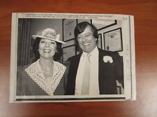 Vtg AP Wire Press Photo Actress Diana Rigg & Husband Archibald Hugh Wedding #2