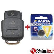 VW Autoschlüssel 3 Tasten Gehäuse für Volkswagen Seat Skoda + 1x VARTA Batterie