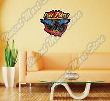 "Free Riders Biker Chopper Road Gift Wall Sticker Room Interior Decor 22""X22"""
