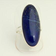 NATURAL LAPISLAZULI anillo Plata 925 Joyas De Piedras Preciosas Azul Talla 19/59