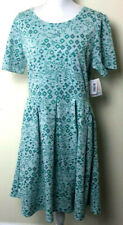 3x 3xl Lularoe Amelia Dress NWT green pockets print Aztec Rare Unicorn